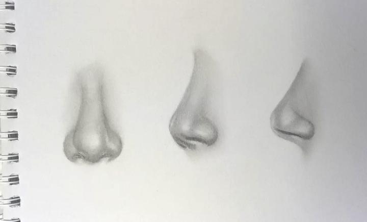 Realistische Nase zeichnen lernen 5